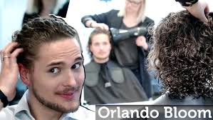 orlando bloom long curly hair or jon snow hair from games of