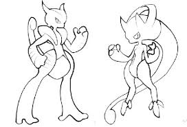 mewtwo ex pokemon coloring pages images pokemon images