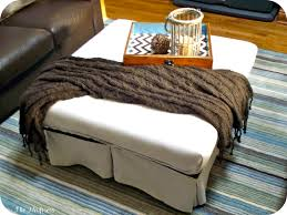 square tray for coffee table ottoman square storage ottoman with tray extra large round pouf