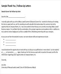 sample thank you follow up letters 5 examples in word pdf