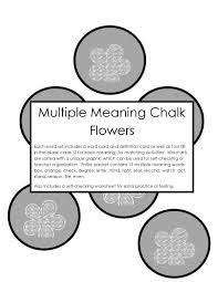 multiple meaning chalk flowers activity tailor