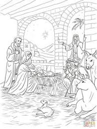 printable nativity coloring free pdf download http