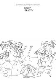 pirate colouring cards