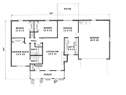 bedroom floor plan ranch house plans with basement l shaped shape