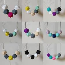 teething bead necklace images Best bpa free food grade diy silicone baby chew beads teething jpg