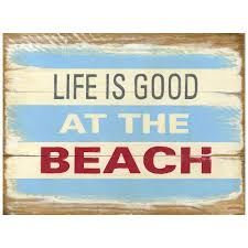 Travel Decor by Life Is Good At The Beach Wood Look Sign Travel Decor
