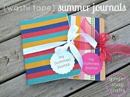 things to do with washi tape ginger snap crafts washi tape summer journals tutorial