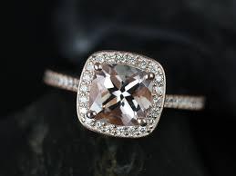 morganite engagement ring gold rosados box hollie 7x7mm gold cushion morganite and diamond