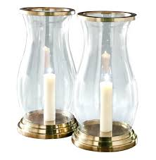 large glass hurricane candle holders interior