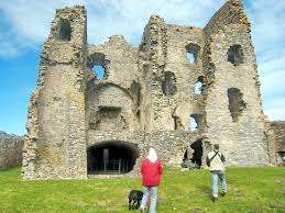 auchindoun castle from entrance through curtain wall flickr