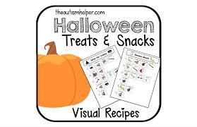 visual recipes halloween treats and snacks the autism helper