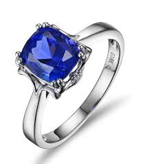 unique engagement rings uk 1 carat cushion cut blue sapphrie solitaire unique engagement ring
