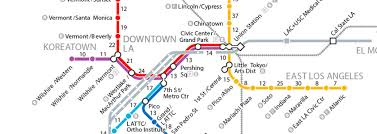 La Subway Map If La U0027s Trains Disappeared A Walking Map Of Metro Curbed La