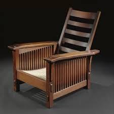 Morris Chair Slant Arm Spindle Morris Chair Model No 369 By Gustav Stickley