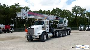 50110s mounted to 2015 kenworth t800 tri drive chassis crane for