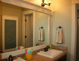 Framing Bathroom Mirror by Simple Bathroom With White Framed Mirrors And Simple Framed Wall