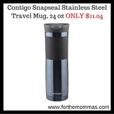contigo travel mug contigo snapseal stainless steel travel mug 24 oz only 11 04