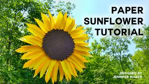 sunflower pictures paper sunflower tutorial this will mesmerize you