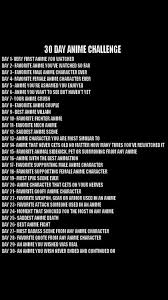 Challenge Deadly 30 Day Anime Challenge Anime Amino