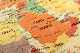Countries Map Map Of Saudi Arabia And Gulf Countries On Globe Stock Photo