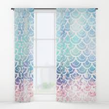 Pink And Teal Curtains Decorating Mermaid Curtains Curtains Ideas