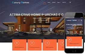 real estates builders mobile website templates
