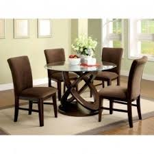 Round Glass Top Dining Table Wood Base Foter - Kitchen table round