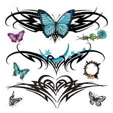 tribal butterfly tattoos aztec tribal tattoos