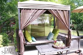 Diy Outdoor Daybed Summer Home Tour At Diyshowoffdiy Show Off U2013 Diy Decorating And