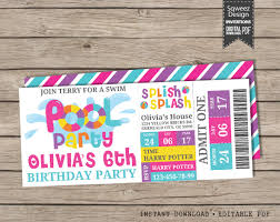 army birthday invitations girls pool party invitation pool party birthday invitation
