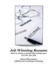 Job Winning Resume by Job Winning Resume Career Events And Workshops Sample Finance Full