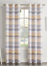 Yellow Gray Curtains Amazon Com Intelligent Design Maci Window Curtain U2013 Microfiber
