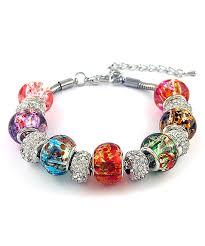murano bead bracelet images Chamonix white murano glass beaded bracelet with swarovski jpg