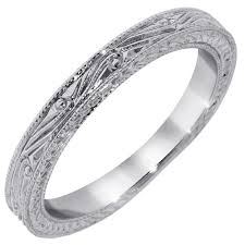 wedding band engraving timeless designs engraved wedding band in 14kt white gold