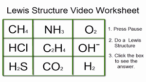 lewis structures worksheet video worksheet with answers youtube