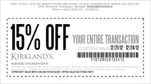 kirkland u0027s coupon code october 2015