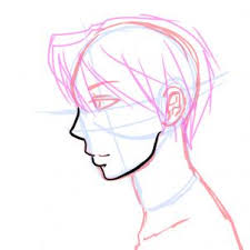 side view male anime face drawing tutorial step by step anime