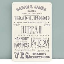 great anniversary gifts great 25th wedding anniversary gift ideas b28 in pictures