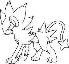 coloriage luxray pokemon à imprimer sur coloriages info