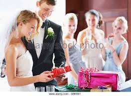 wedding gift opening opening gifts stock photos opening gifts stock images alamy
