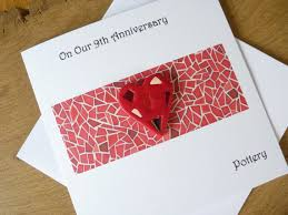 ninth anniversary gift 9th wedding anniversary card pottery ninth anniversary gift
