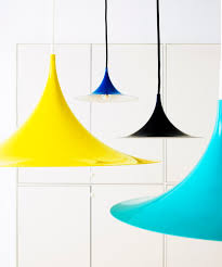 Pendant Lamps Semi Pendant Lamp From Gubi Colors Yellow Turquoise Black And
