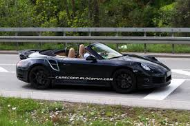 convertible porsche spy shots porsche lets the sun in new 911 turbo convertible