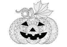 halloween pumpkin coloring stock vector image leaf 99726353