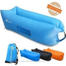 Air Filled Sofa by Inflatable Lounger Portable Sleep Lounge Couch Sun Canopy Outdoor