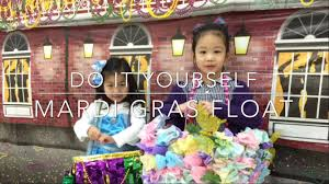 diy how to make a kid mardi gras float for project mardi