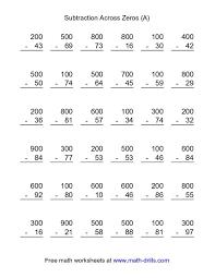 multi digit subtraction worksheets worksheets