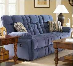 Blue Reclining Sofa by Leather Recliners Sofas Reclining Sectionals Reclining