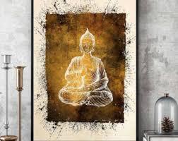 Buddha Home Decor Buddha Painting Etsy