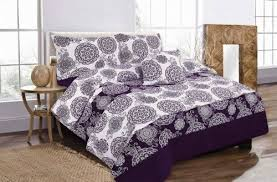 Plum Bed Set Floral Megan Plum Bed In A Bag Duvet Quilt Cover Bedding Set
